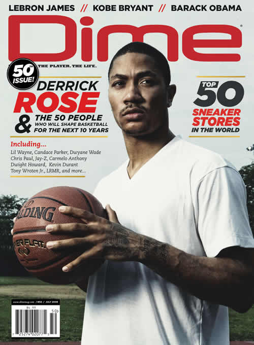 derrick rose college stats. Derrick Rose Makes the Cover